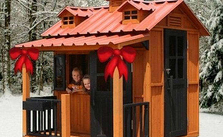Kids Outdoor Playhouse Unique Thematic Designs Favored