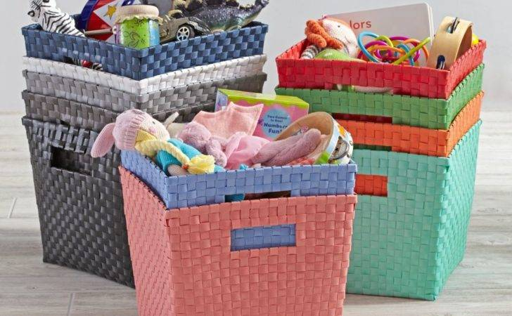 Kids Storage Containers Canvas Cube Bin