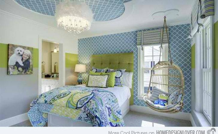 Killer Blue Lime Green Bedroom Design Ideas