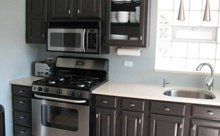 Kitchen Black Painted Cabinets Design