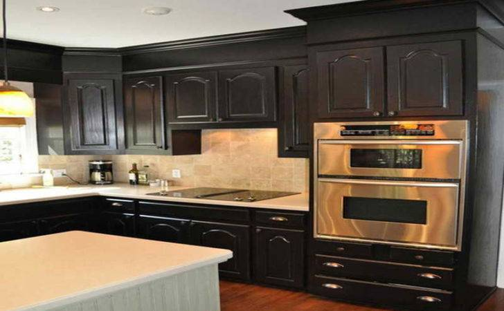 Kitchen Combine Black Painted Cabinets