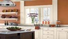 Kitchen Nice Orange Color Schemes Wood