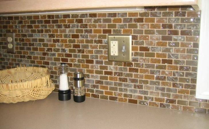 Kitchen Remodel Glass Tile Back Splash Platinum