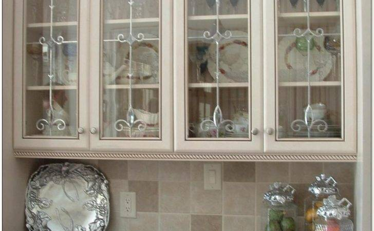 Kitchen Wall Cabinets Glass Inserts Cabinet Home
