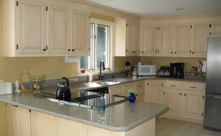 Kitchen White Wooden Cabinet Painting Color