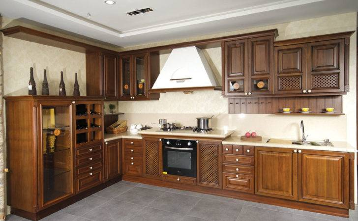 Kitchen Wooden Cabinets Granite Countertops