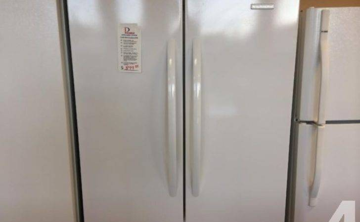 Kitchenaid Gloss White French Door Freezer Refrigerator