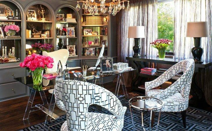 Kris Jenner Office Jeff Andrews Popsugar Home