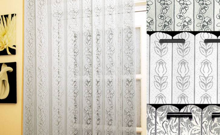 Lace Curtain Louvre Blinds Available Designs