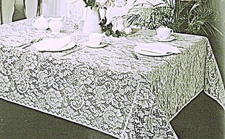 Lace Tablecloths Julia White Tablecloth
