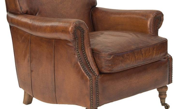 Ladbroke Armchair Antique Leather Traditional