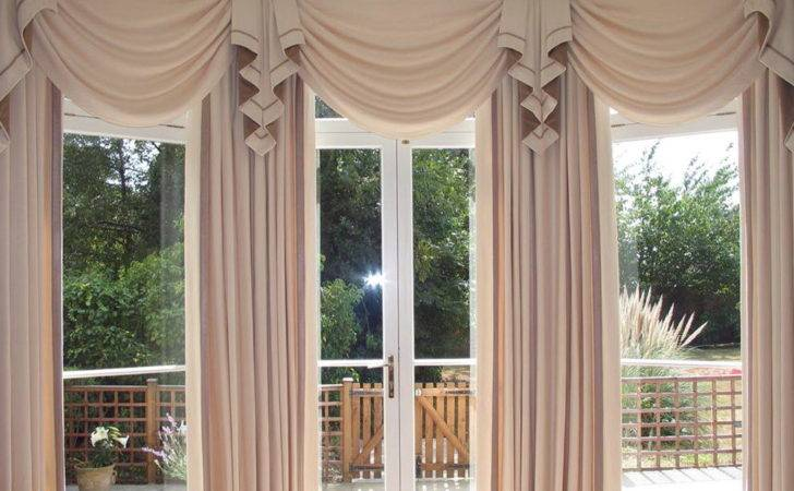 Large Bay Window Curtains Home Design Ideas