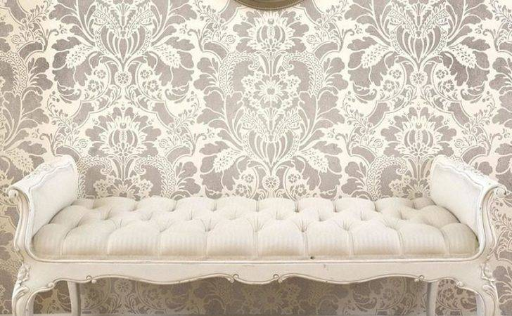 Large Floral Damask Wall Stencils Diy Look