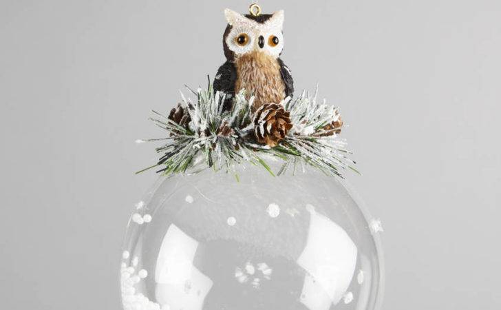 Large Forest Owl Glass Bauble Decoration Old New