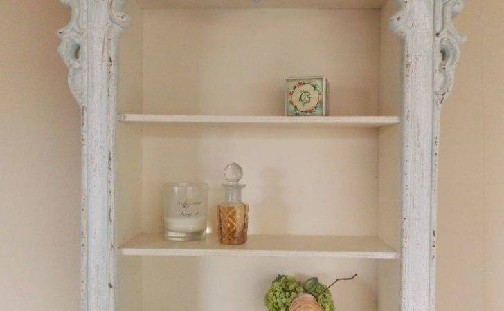 Large French Wooden Shabby Chic Carved Storage Cupboard