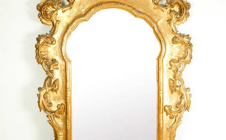 Large Hall Mirror Baroque Style