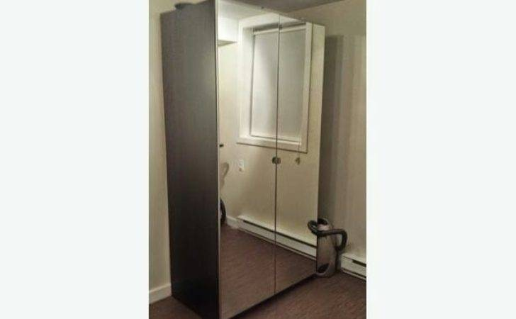 Large Ikea Mirror Door Wardrobe Black Sale Santry