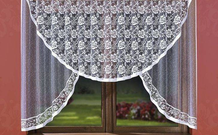 Large Jacquard White Curtain Ready Made Ebay