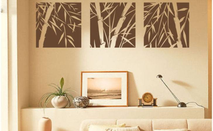Large Pcs Bamboo Removable Wall Art Stickers Vinyl Decal