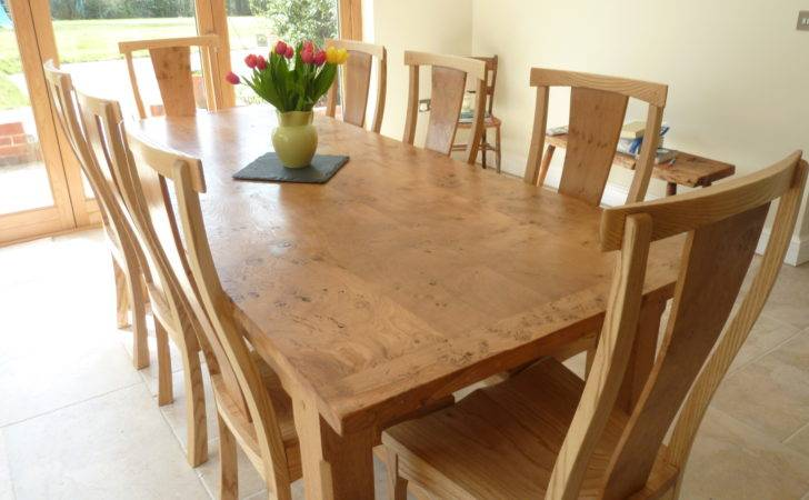 Large Pippy Oak Dining Table Chairs Quercus Furniture
