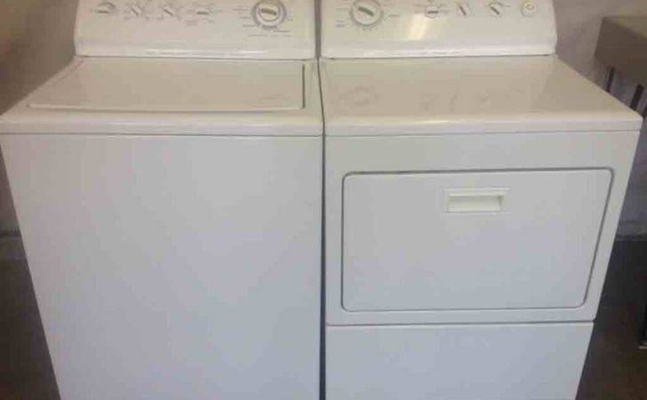 Large Reliable Kenmore Elite Washer Dryer Set