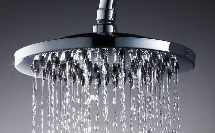 Large Round Square Chrome Plated Bathroom Rain Water