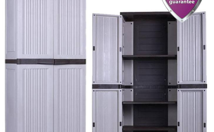 Large Tall Outdoor Plastic Storage Utility Cabinet Garden
