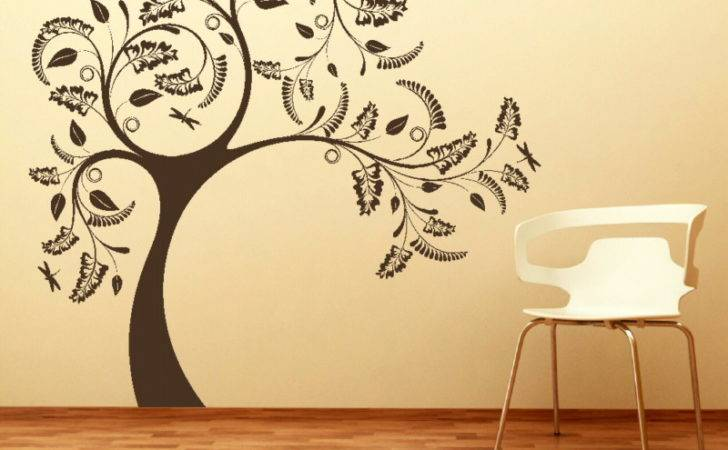 Large Tree Floral Design Wall Sticker