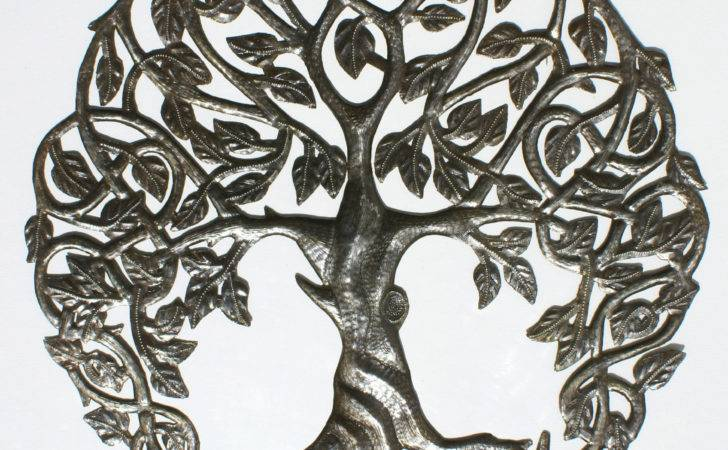 Large Tree Life Handmade Recycled Metal Wall Art