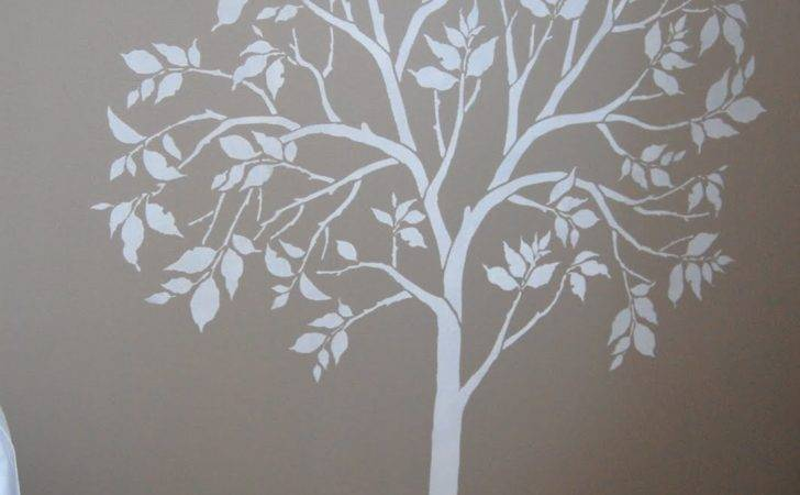 Large Tree Stencil Comes Separate Bird