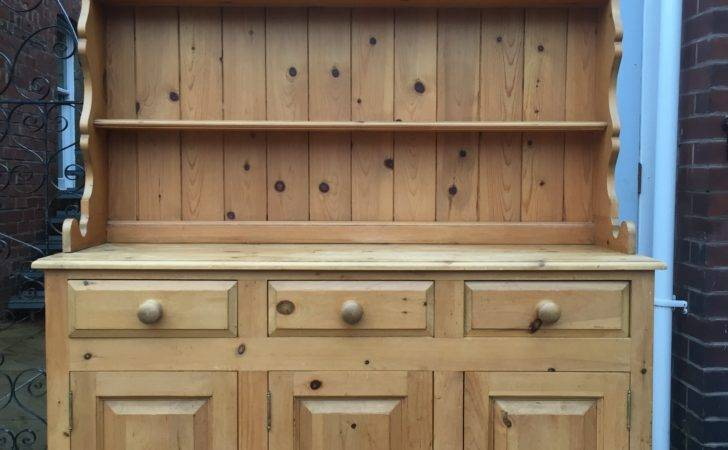 Large Waxed Pine Dresser Ansdell Artifacts