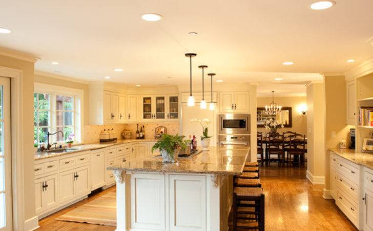Large White Kitchen Beautiful Homes Design