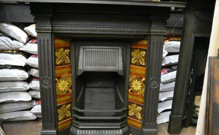 Late Victorian Tiled Combination Fireplace