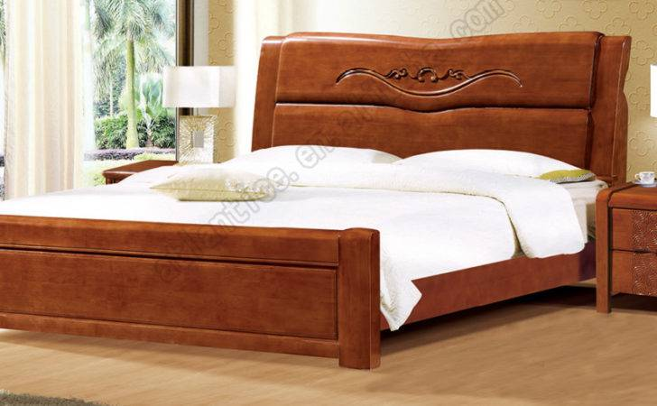 Latest Design Rubber Wood Double Bed Buy Wooden