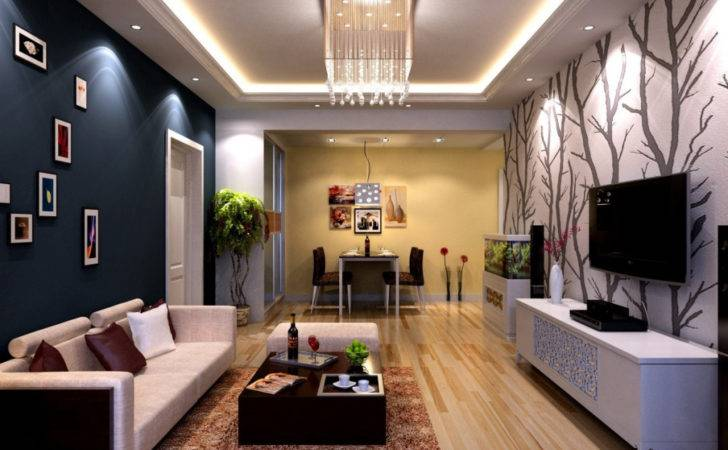 Latest Simple Small Living Room Ceiling Design Top