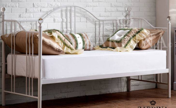 Latina Sapphire Crystal Iron Metal Day Bed Small