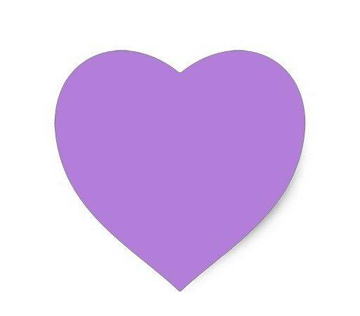 Lavender Heart Sticker Zazzle