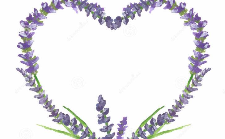 Lavender Heart Wedding Valentine Graphic Motive