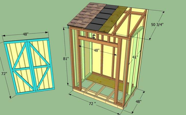 Lean Shed Plan Blueprints