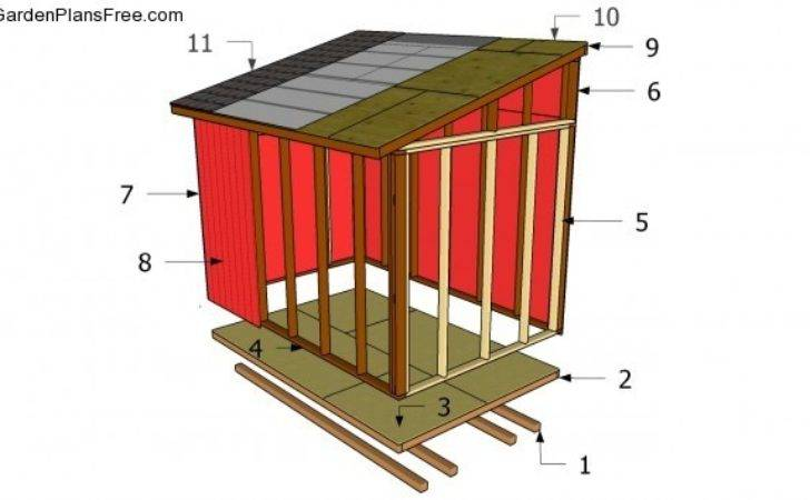 Lean Shed Plans Garden Build