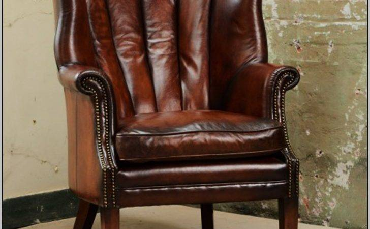 Leather Wingback Chair Chairs Home Decorating Ideas