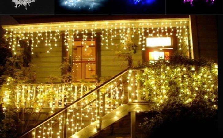 Led Waterfall Outdoor Fairy String Light Christmas