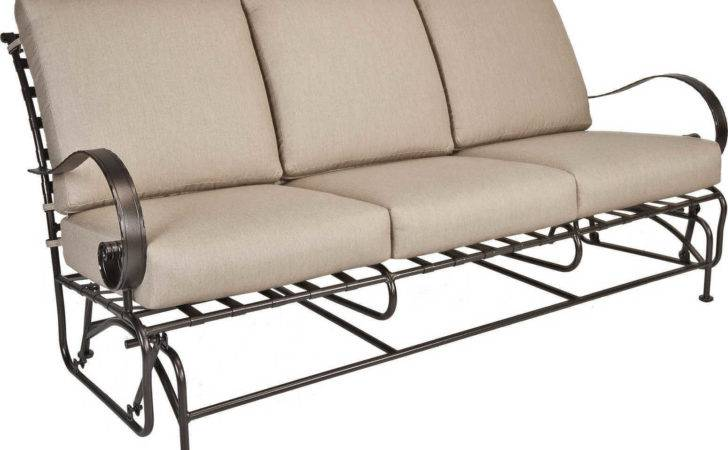 Lee Classico Wide Arms Wrought Iron Sofa Glider