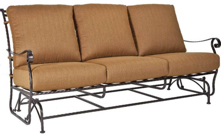 Lee San Cristobal Wrought Iron Three Seat Sofa Glider