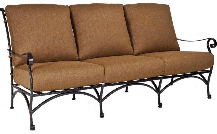 Lee San Cristobal Wrought Iron Three Seat Sofa