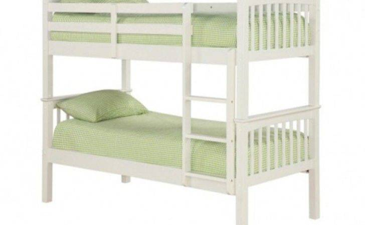Leo Solid Off White Wooden Bunk Bed