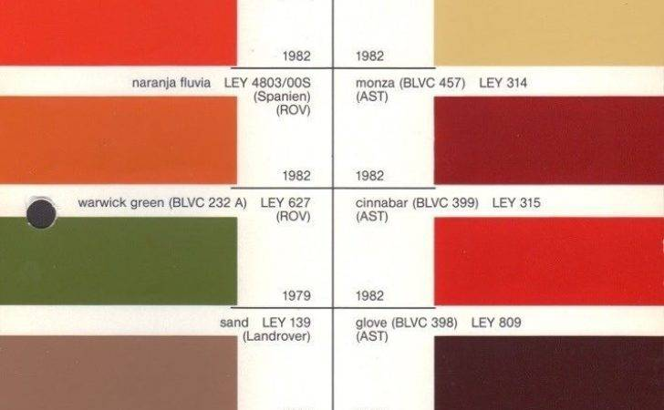 Leyland Paint Chart Color Reference Fight Life