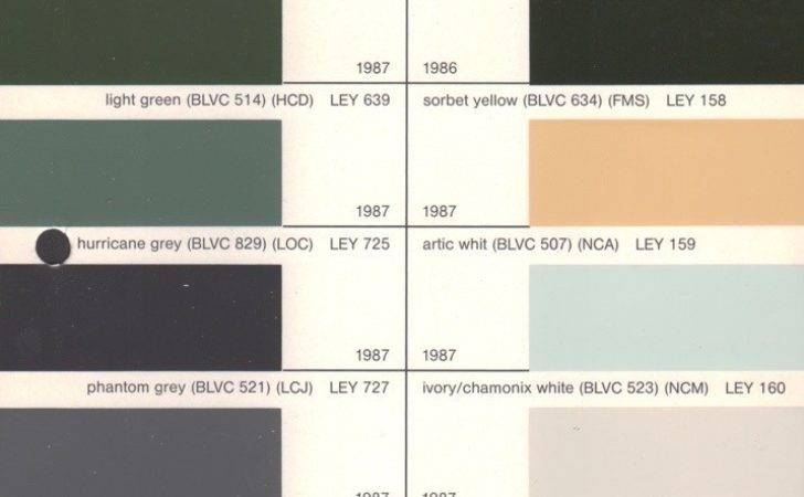 Leyland Paint Chart Color Reference