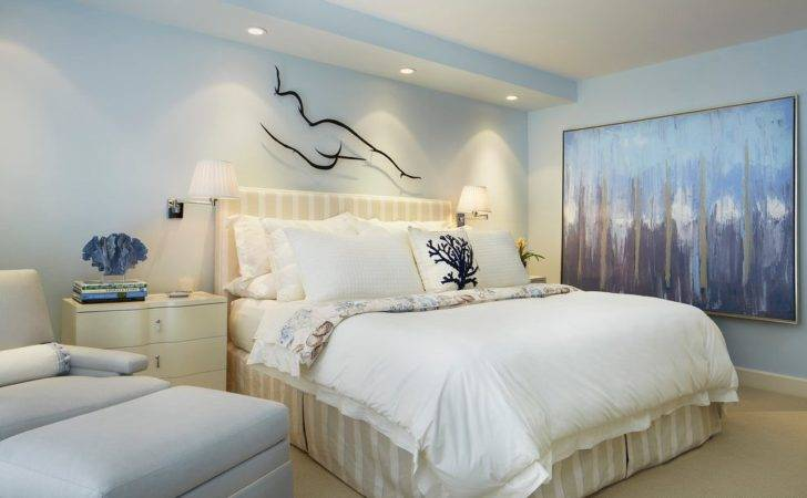 Light Blue Walls Bedroom Traditional Vaulted Ceiling