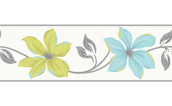 Lilly Teal Lime Border Wilko